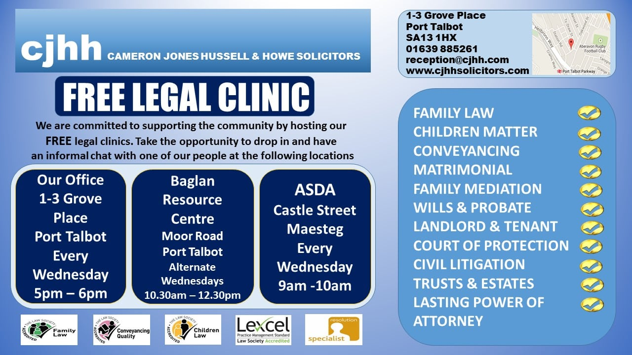 free legal clinic poster