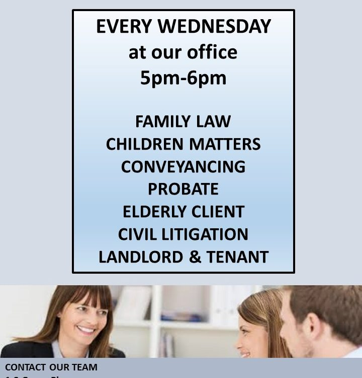 Legal Advice Clinic poster
